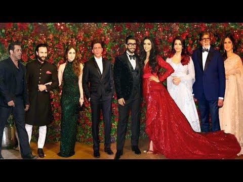 Ranveer Deepika Wedding Reception FULL HD Video | Shahrukh,Salman,Bachchan,Katrina,Kareena,Aish,Saif
