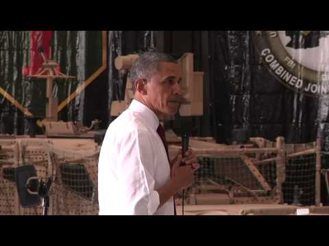 President Obama Visits Bagram, Afghanistan