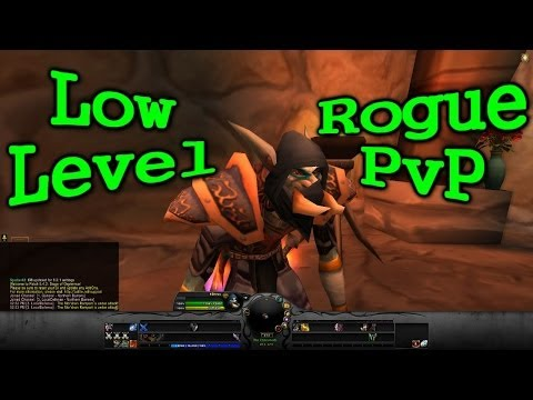 Wow Rogue Low Level Battleground Pvp Commentary + Walkthrough (basic Assassination Twink!) video
