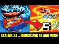 XCALIUS X3 + DOOMSCIZOR D3 AND MORE! BEYBLADE BURST EVOLUTION APP GAMEPLAY