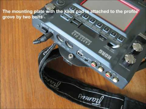How To Assemble Kaoss Pad 3 On Zoybar Guitar