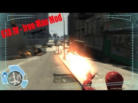 GTA IV LCPDFR Iron Man Patrol - Episode 1 - I AM IRON MAN HERE TO SAVE YOU!!!