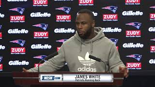 James White on how Patriots offense can improve against Jets