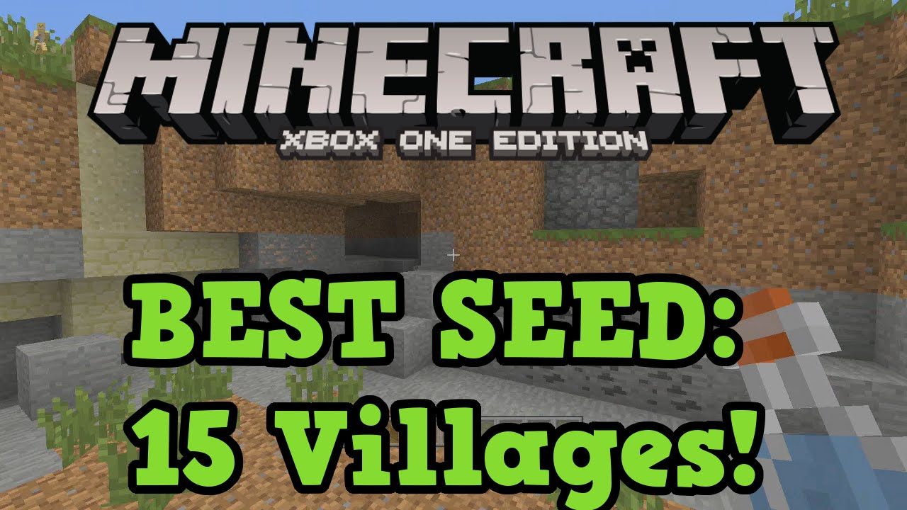 Minecraft xbox one best seed 15 villages 10 temples and floating