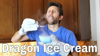 Making Non Dried Powdered Ice Cream With Liquid Nitrogen And A Blender