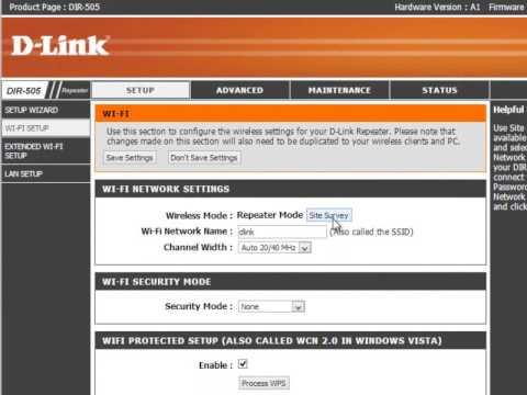 D-Link Configuração DIR 505 Cloud Router - Configuração em modo Repeater