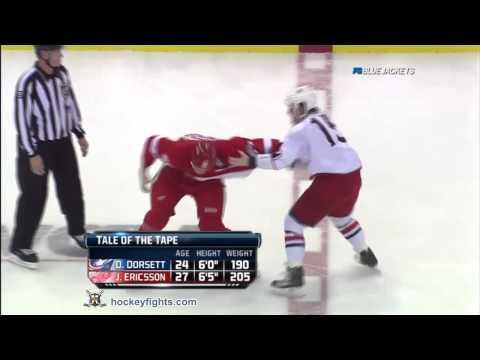 Derek Dorsett vs Jonathan Ericsson Oct 21, 2011