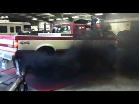 7.3l idi non turbo diesel dyno...smoke out