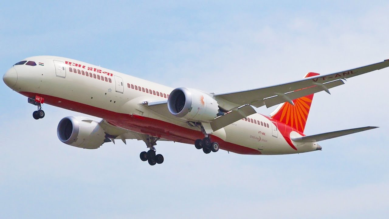Air India Boeing 787 8 Dreamliner Vt Anl Landing Runway 27l London