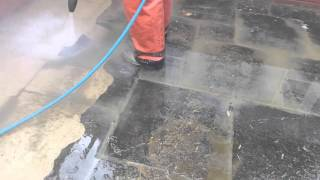 Jetclenz Pressure Washing - Patio slab cleaning
