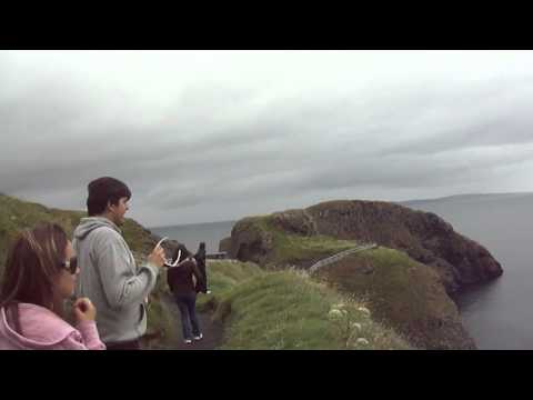 tubarão na Carrick-a-Rede Rope Bridge -- Antrim, Irlanda do Norte