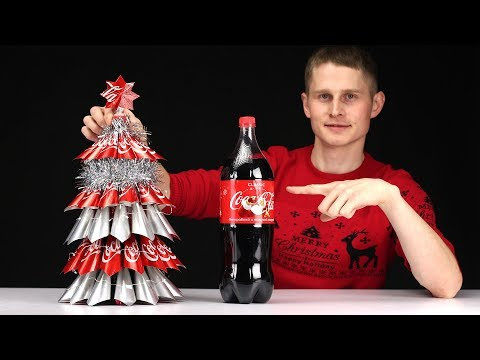 HOW TO MAKE A CHRISTMAS TREE FROM COCA-COLA?