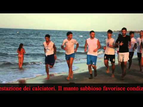 IL CANOSA SI ALLENA SULLA SPIAGGIA DI BARLETTA - 21/8/2014