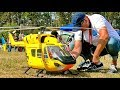 STUNNING BIG RC BK-117 ADAC SCALE MODEL ELECTRIC HELICOPTER FLIGHT DEMONSTRATION