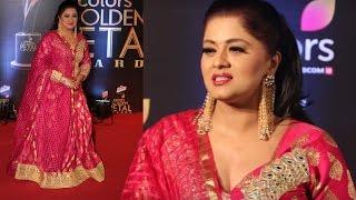 Sudha Chandran Hot In Pink Dress At Colors Golden Petal Awards 2017 !!