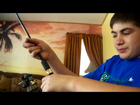 How to put Fishing Line on a Open Face Reel