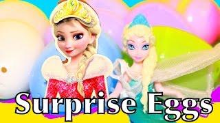 Surprise Eggs Disney Princess Elsa Frozen Doll Toy Favorite Candy 20 like Kinder Surprise Eggs
