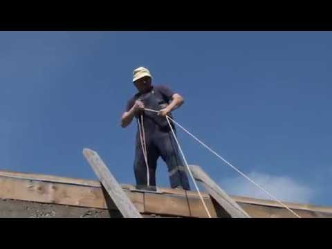 Подъем бруса 100 * 200 в малоэтажном строительстве.