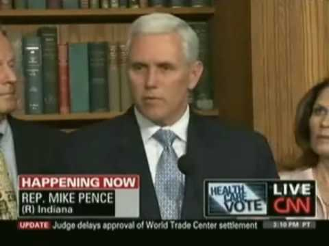 CNN covers Pence remarks at pro-life Republican press conference