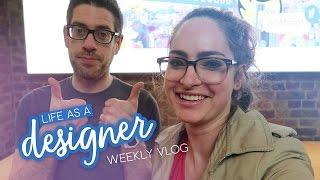 Weekly vlog: Learning calligraphy, screen printing & saying goodbye   Life as a designer
