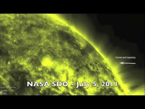 NASA/ESA SOHO & NASA SDO Comet Meets Sun, October 1, 2011