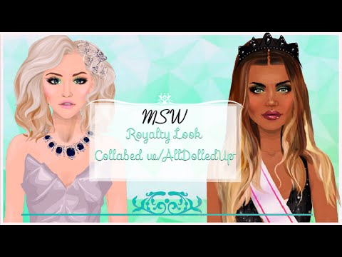 Stardoll Make-Over: MSW Royalty Look Collab W/AllDolledUp