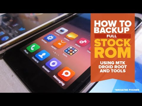 How to Backup your Stock Rom on a Mediatek Phones [Arc Mobile Nitro 500D] [Tagalog]