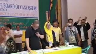 for final declaration of vote in Cotabato city.