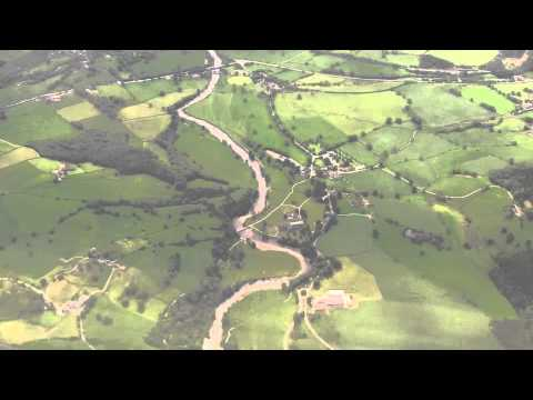over West Yorkshire and Landing at Leeds Bradford Airport - June 2011
