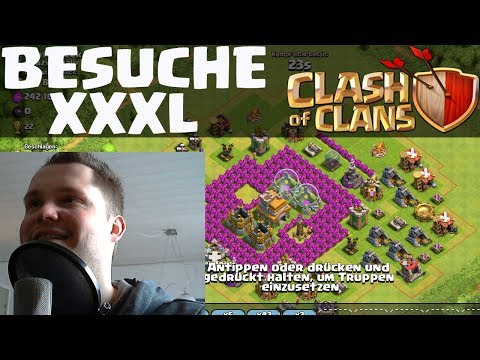 [facecam] Clash Of Clans || Xxxl Besuchsfolge || Let's Play Clash Of Clans [deutsch german Hd] video