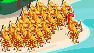 Lion Family 🏃 Marathon Cartoon for Kids