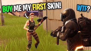 Asking Strangers To Buy My FIRST SKIN On Fortnite (pretending to be a fake noob)