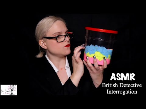[ASMR] British Detective Interrogation Roleplay. What Have You Done? ~ Latex Gloves, Light Triggers
