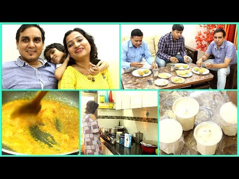 Hubby Cooking Food for Childhood Friends | Sunday Yummy Food Vlog
