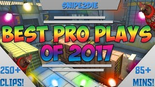 THE BEST PRO PLAYS OF 2017! (INSANE ACES, CLUTCHES, 200 IQ PLAYS) - CS:GO