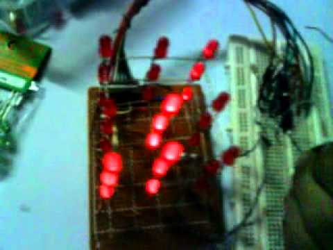 3x3x3 LED cube using 555 timer (non-programmable)