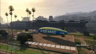GTA V(5) - HOW TO FLY THE ATOMIC BLIMP!!!!!