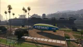 GTA V(5) - HOW TO FLY THE ATOMIC BLIMP!!!!!