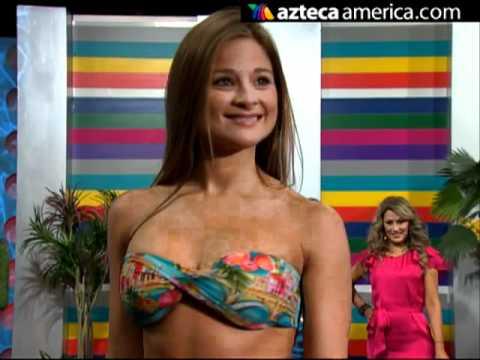 Aline Hernández y su línea de bikinis [VIDEO]