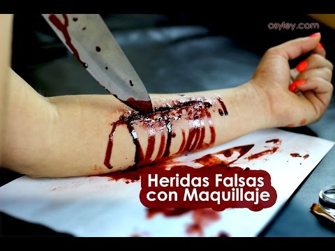 Como hacer cortadas o heridas falsas con maquillaje paso a paso