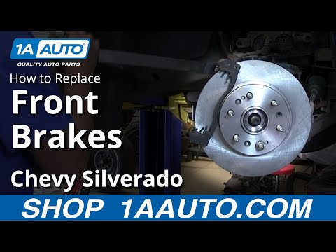 How To install Replace Do a Front Disc Brake Job 2007-13 Chevy Silverado GMC
