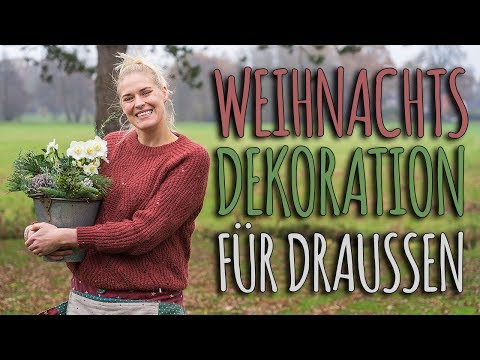 WINTERLICHE DEKORATION FÜR DRAUßEN - WEIHNACHTSDEKO DIY