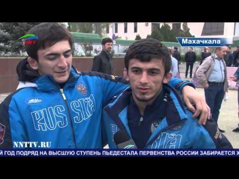 Сборная Дагестана по вольной борьбе привезла три золотые медали с молодежного первенства России