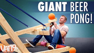 Giant Catapult Beer Pong!