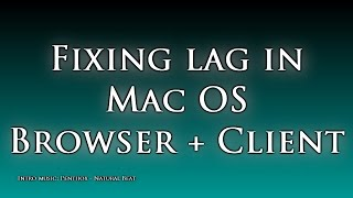RSTech: Fix/Curb Lag in Runescape, Mac OS [Browser + Client]