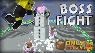 Evil Snow Golem Boss Fight in Vanilla Minecraft with only one command block.