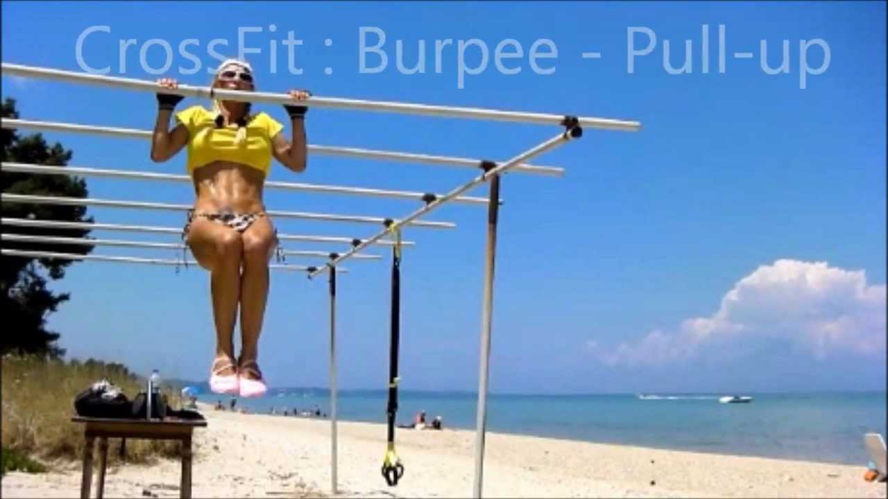 CrossFit: Awesome Burpees - Pull-Ups Workout on Bars | How ...