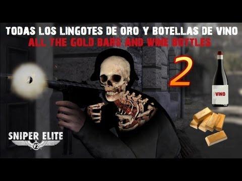 Sniper Elite V2 Guía - Sniper Elite V2 Capitulo 2 Guía coleccionables/Guide Collectibles Lingotes de oro y botellas de vino
