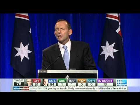 Tony Abbott Victory Speech