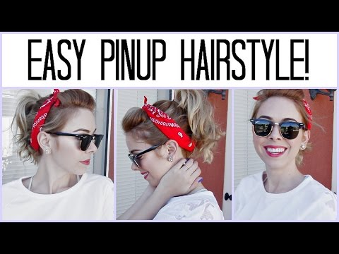 ♡ Easy Halloween Pinup Hairstyle!
